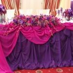 Оформление свадебного стола жениха и невесты